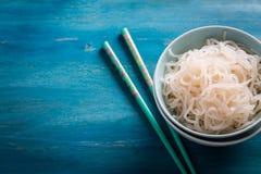 日本食物-魔芋Shirataki的面条 免版税库存图片