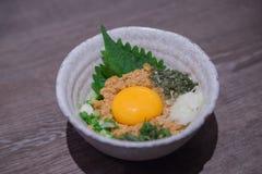 日本食物/natto/被发酵的豆 库存照片