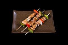 日本食物buta yaki 免版税库存图片