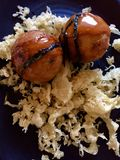 日本食物takoyaki 库存图片