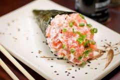 日本食物temaki 免版税库存图片