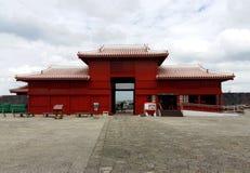 日本首里城堡 库存照片