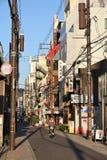 日本骑自行车者 库存照片