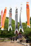日本高中的游览 免版税库存图片