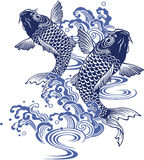 日本鲤鱼 免版税库存照片