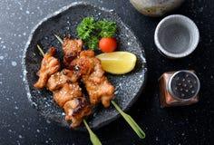日本鸡格栅或yakitori 免版税库存照片