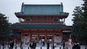 日本,京都- 1月2019走动在浅草地区的许多人neary 股票视频
