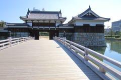 日本:广岛城堡 图库摄影