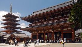 日本-东京- Asakusa Kannon塔 库存图片