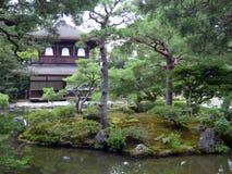 日本 京都 Ginkaku籍寺庙,银色亭子 免版税库存照片