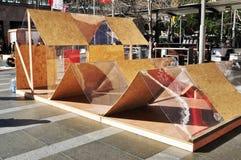 日本紧急风雨棚 免版税图库摄影