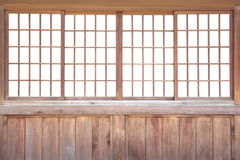日本滑的纸门 库存照片