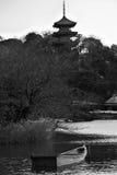 日本黑色&白色 免版税库存照片