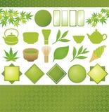 日本绿茶 免版税库存照片