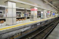 日本-Ausust 19,2015 :Tobu铁路在Tobu浅草训练, 免版税库存照片