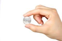 日本100YEN硬币 免版税库存图片