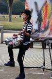 日本artist/DJ在公园东京 库存图片