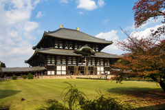 日本ji奈良寺庙todai 库存照片