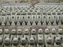 日本jizo雕塑 免版税库存照片