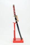 日本katana武士剑 库存照片