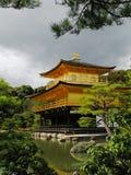 日本kinkakuji京都寺庙 库存照片