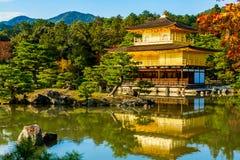 日本kinkakuji京都寺庙 免版税库存照片