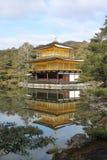日本kinkakuji寺庙 免版税库存照片