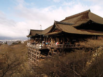 日本kiyomizu京都寺庙 免版税库存照片