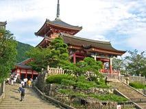 日本kiyomizudera寺庙 免版税库存图片