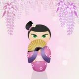 日本kokeshi玩偶 免版税图库摄影
