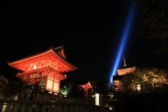 日本kyiomizu京都寺庙 库存图片