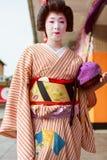 日本maiko 免版税图库摄影