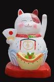 日本maneki neko幸运的欢迎猫 免版税库存照片