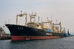 日本maru nisshin船捕鲸 免版税库存照片
