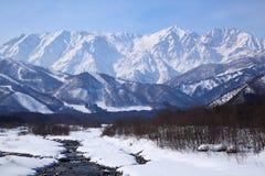 日本mt长野shiroumadake 免版税库存图片