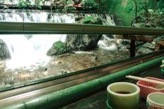 日本nagashi某一餐馆 免版税库存图片