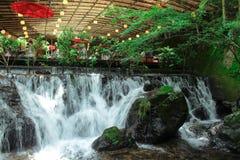 日本nagashi某一餐馆 图库摄影
