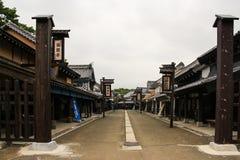 日本ninja村庄建筑学 免版税库存照片