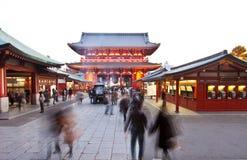 日本sensoji寺庙传统 免版税库存照片