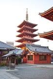 日本sensoji寺庙 免版税库存图片