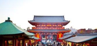 日本sensoji寺庙 免版税图库摄影