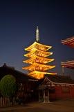 日本sensoji寺庙 库存照片