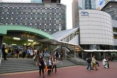 日本shimbashi岗位 免版税库存图片