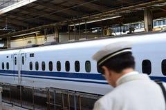 日本Shinkansen高速火车 免版税库存图片