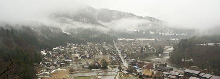 日本shirakawago村庄 库存图片