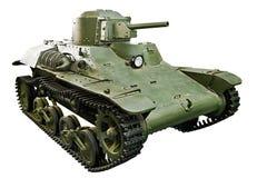 日本tankette类型97轻的防弹车Te Ke隔绝了白色 库存照片