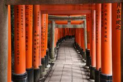 日本torii门 库存照片