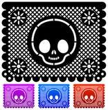 日死亡装饰墨西哥向量 库存例证