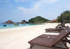 日海岛redang视图 免版税库存图片