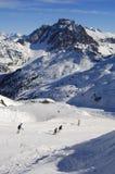 日滑雪 库存照片